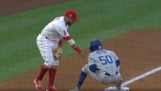 Mookie Betts Was Accidentally Hit In The Nuts While Getting Tagged