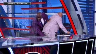 Shaq Tried To Punch Out Charles Barkley's Hamstring Cramp On 'Inside The NBA'