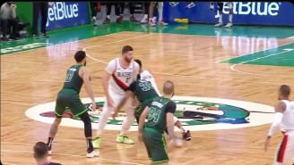 Marcus Smart Got Ejected For A Low Blow On Jusuf Nurkić During A Moving Screen