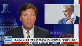 Tucker Carlson Had An Amped-Up, Fearmongering Reaction To Fauci's Call For Seasonal (Flu) Masks, Of Course