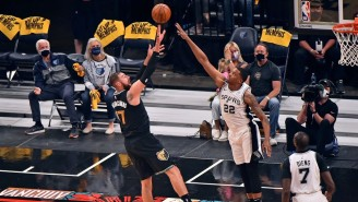 Jonas Valanciunas' Dominant 23 Point, 23 Rebound Game Led Memphis Over San Antonio In The Play-In
