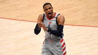 Russell Westbrook Was Furious After A Sixers Fan Dumped Popcorn On Him As He Left With An Injury