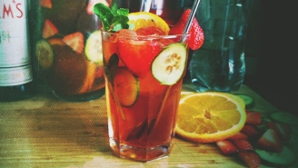 The Pimm's Cup Is A Deeply Refreshing Batch Cocktail For Your Next Party
