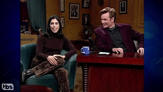 Sarah Silverman And Conan O'Brien Recalled Her First Appearance On His Show 28 Years Ago, And Things Got Emotional