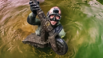 A YouTuber Was The First To Dive The San Antonio River Walk In Search Of Treasure (And Trash)
