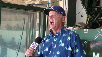Bill Murray Stole The Show At Wrigley Field Singing 'Take Me Out To The Ball Game'