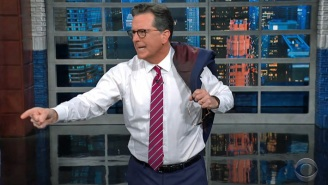 Stephen Colbert Mocked Biden Getting Snippy With Reporters: 'Strong Grandpa's Had It With Your Lip Energy'