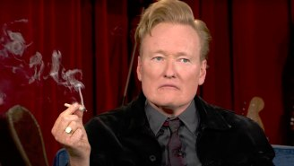 Conan Lived Every Stoner's Fantasy By Smoking Weed With Seth Rogen During His Final Week As A TBS Host