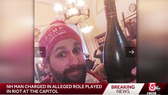 Wine-Chugging Capitol Rioter Announces He's Running For Congress Even Though He Can't Step Foot In D.C.