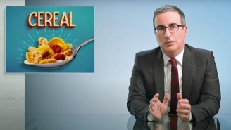 John Oliver Had A 'Killer' Response For Cheerios' Counter-Challenge, And It's Definitely Not Family-Friendly