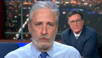 Jon Stewart Pushed The Controversial 'Lab Leak' Theory To A Skeptical Stephen Colbert On 'The Late Show'