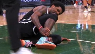 Kyrie Irving Left Game 4 With A Right Ankle Sprain After Landing On Giannis' Foot (UPDATE)