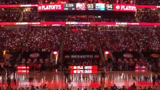 A Poorly-Timed Power Outage Happened Late In Game 6 Of Hawks-Sixers