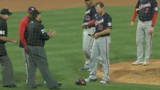 Max Scherzer Responded To Accusations Of Using Sticky Stuff By Taking Off His Hat And Unbuckling His Pants