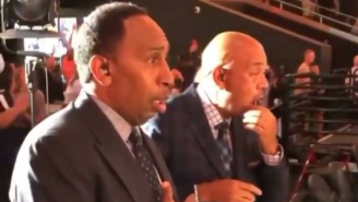 Give An Oscar To This Video Of Stephen A Smith And Michael Wilbon Reacting To Deandre Ayton's Game-Winning Dunk
