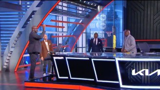 Please Enjoy Shaq Desperately Trying To Make A Free Throw On A Mini Hoop