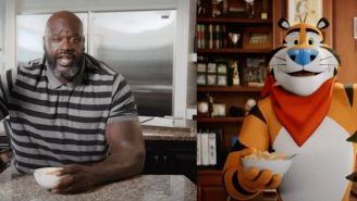 Shaq Wants John Oliver To Join Him And Tony The Tiger For Breakfast After Oliver Praised Their 'Perfect' Frosted Flakes Commercial
