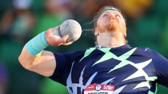 Burly Man Sets World Record In Throwing A Heavy Ball