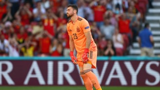 Spain's Goalie Whiffed On A Pass Back For A Disastrous Own Goal At Euro 2020