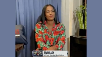 Swin Cash's Reaction To The Pelicans Disappointing NBA Draft Lottery Result Was Incredible