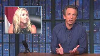 Seth Meyers Isn't Buying Marjorie Taylor Greene's Reason For Refusing To Say Whether She's Been Vaccinated