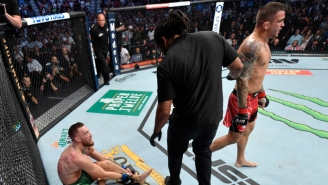 Conor McGregor Suffered A Broken Leg In His Loss To Dustin Poirier At UFC 264