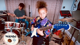 Arctic Monkeys' Matt Helders And 11-Year-Old Nandi Bushell Rock Out To A Rendition Of 'R U Mine?'