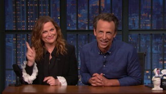 Amy Poehler Joined Seth Meyers To Roast The 'Old Billionaires' Currently Engaged In A Dick-Measuring Space Race