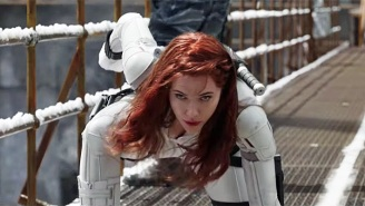 Florence Pugh Dunked On Scarlett Johansson's Landing Poses So Hard That It Made It Into The 'Black Widow' Script
