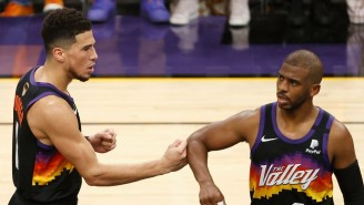 Devin Booker Wasn't Having It After Someone Asked If He's Frustrated For Chris Paul After Game 5