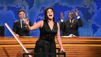 Cecily Strong Spills (And Sloshes) The Details About That Huge 'Weekend Update' Wine Tank