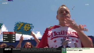 Joey Chestnut Set A New World Record Eating 76 Hot Dogs But No One Saw It As ESPN's Feed Kept Cutting Out