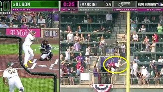 A Fan Flipped Over A Railing Into A Tunnel Trying To Catch A Dinger In The Home Run Derby