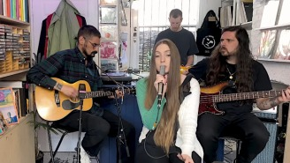Dry Cleaning Take Over East London's World Of Echo For Their NPR Tiny Desk Performance