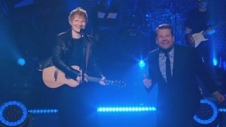 Ed Sheeran Closes Out His 'Late Late Show' Residency With A Full-Band Rendition Of 'Shape Of You'