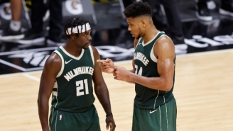 Giannis Antetokounmpo Doesn't 'Worry At All About' Jrue Holiday's Shooting Struggles During The Finals