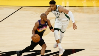 Giannis Antetokounmpo Calls It 'Amazing' That Chris Paul 'Can Still Play At A High Level' In His 16th Season