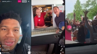 All The Best Moments From Giannis Antetokounmpo's Trip To Chick-Fil-A To Celebrate Winning An NBA Title
