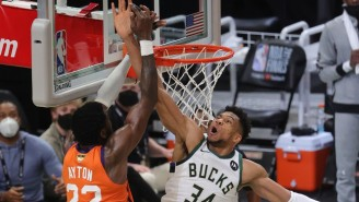 Giannis Antetokounmpo's Block On Deandre Ayton Is An Instant Classic NBA Finals Moment