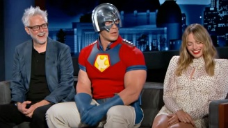 John Cena Made It Weird (And Awkward) By Showing Up To 'Jimmy Kimmel Live' In His Peacemaker Costume