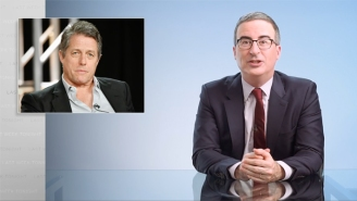 John Oliver Took A Good-Natured Swing At Hugh Grant In The Most Bizarrely Profane Context Possible