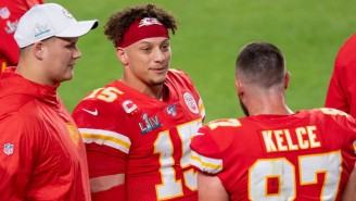 Travis Kelce Saying His Last Name Is Mispronounced Is Blowing Patrick Mahomes' Mind