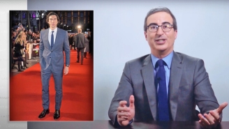 'Last Week Tonight' Couldn't Resist An Emergency Announcement About The Shirtless Adam Driver Ad Campaign