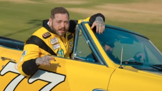 Post Malone Burns Some Rubber And Parties In His Fast-Paced Video For 'Motley Crew'