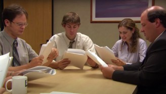 'The Office's Deleted 'Threat Level Midnight' Table-Read Scene Has Finally Surfaced