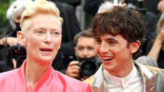 Notorious Prankster Tilda Swinton Got Timothée Chalamet Real Good During A Cannes Standing Ovation