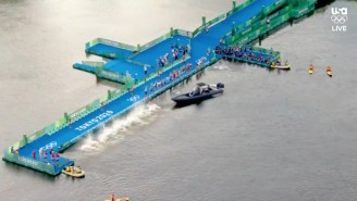 The Olympic Men's Triathlon Had To Get Restarted Because Of A Boat Blocking The Start