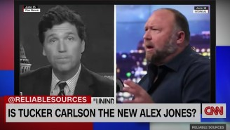 CNN's Brian Stelter And Oliver Darcy Compared Tucker Carlson's Conspiracy Theories And Lies To Alex Jones