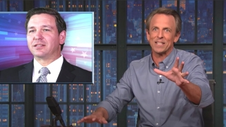 Seth Meyers Roasted Florida Governor Ron DeSantis For Blaming His State's COVID Clusterf*#k On Immigrants