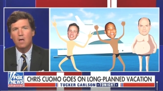 Tucker Carlson Is Defending CNN's Chris Cuomo For Continuing To Help His Embattled Brother
